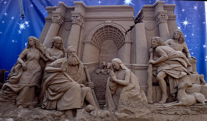 jesus christ sand sculptures -  19