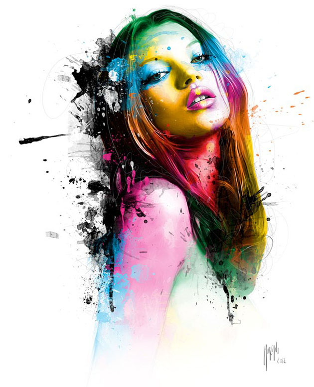 colourful painting by patrice murciano -  2