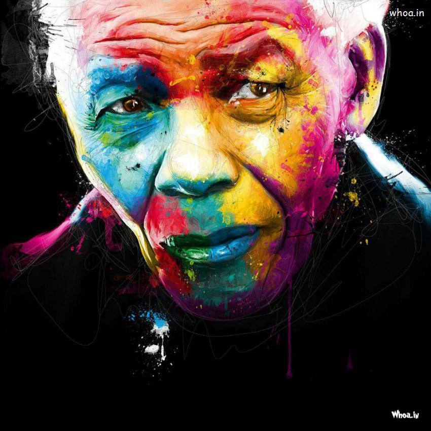 nelson mandela colorful paintings