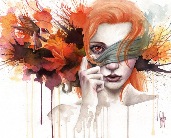 water colour paintings by guillembe -  20