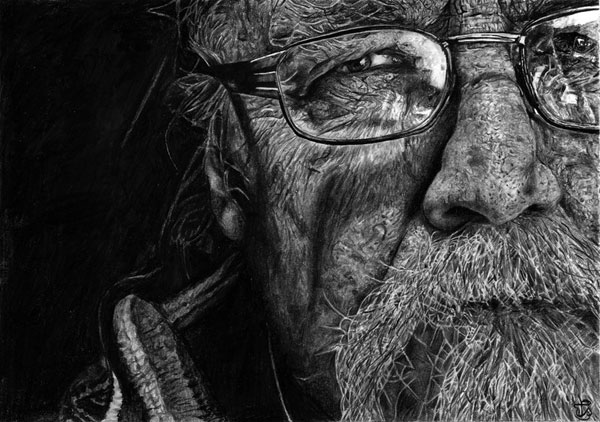 old man face drawings -  21
