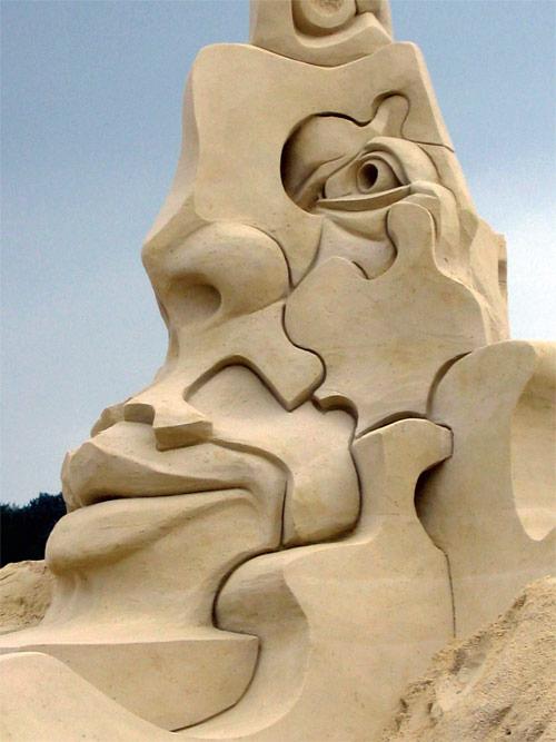 puzzle sand sculptures -  23