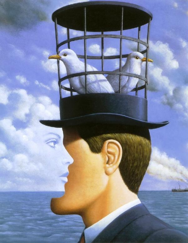 surreal painting by rafel olbinski -  23