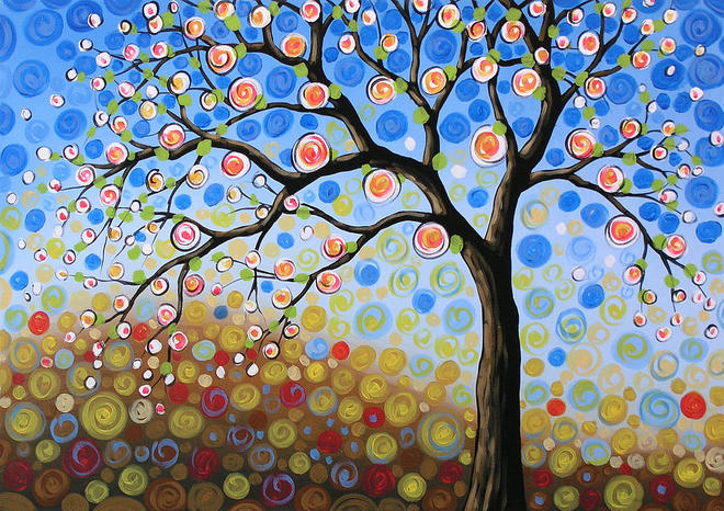 tree paintings by amy giacomelli