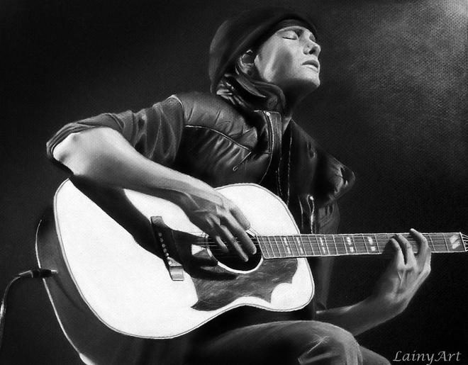 musician charcoal drawings -  25
