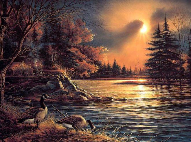 tree oil painting