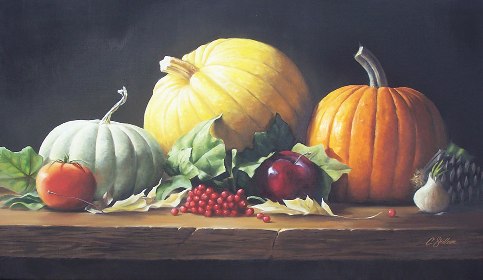 25 vegetables still life painting
