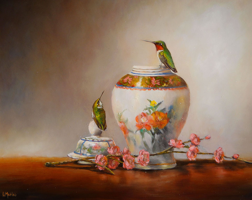still life painting by rubies porcelain -  29