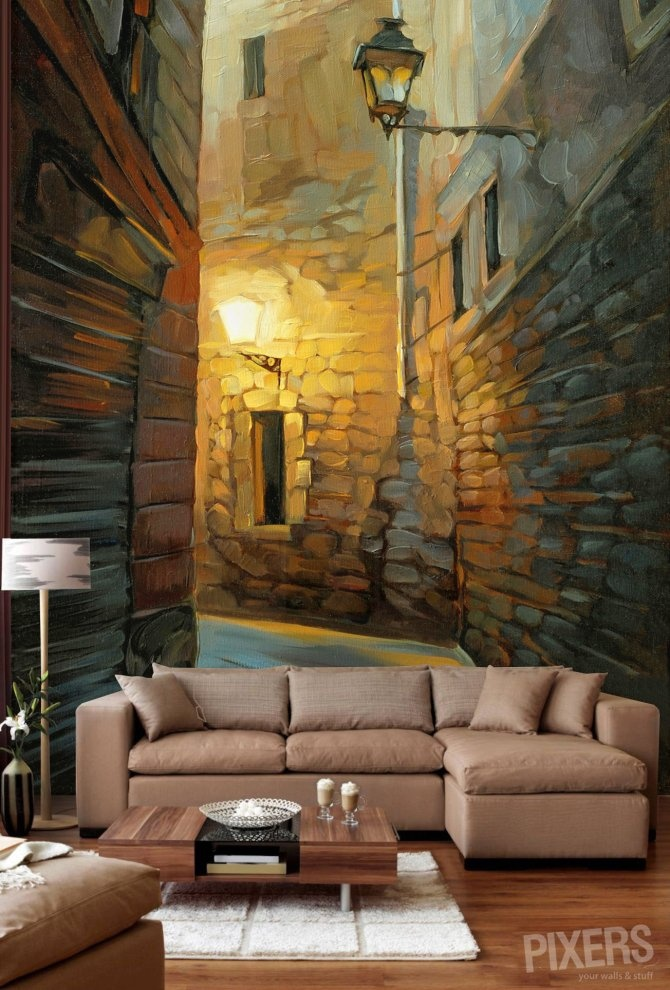 wall mural painting living room -  3