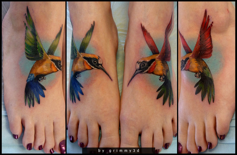 bird tattoos women grimmy