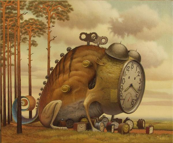 frog surreal painting by jacek yerka -  4