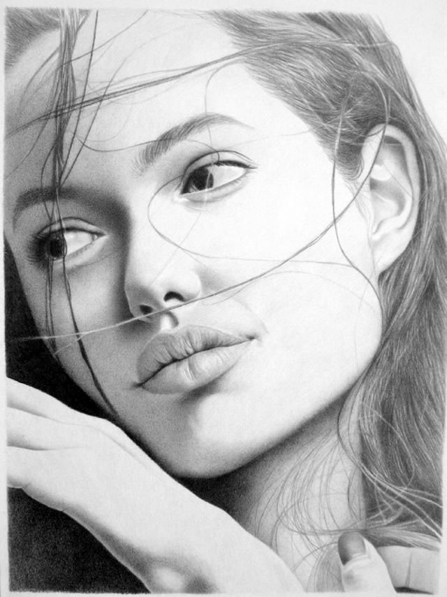 girl face drawings -  4