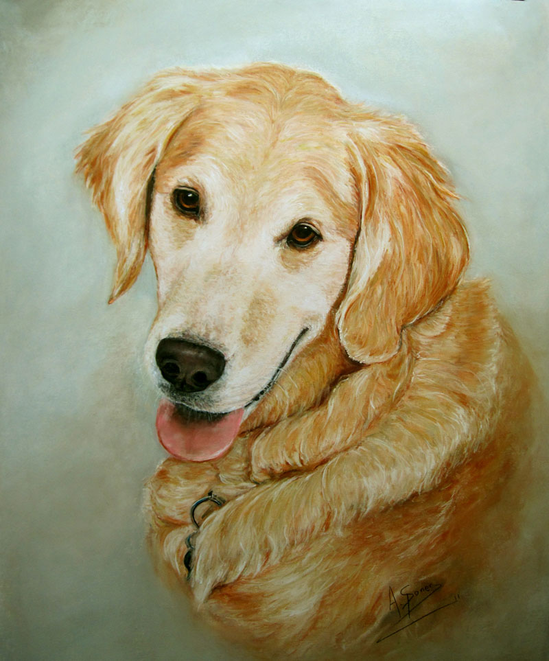 buddy pastel painting