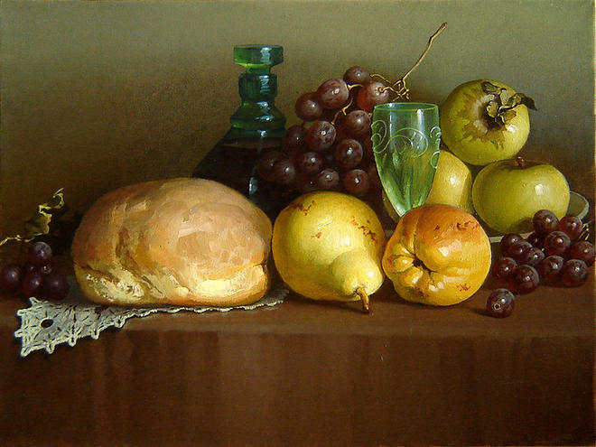 bun still life paintings -  5