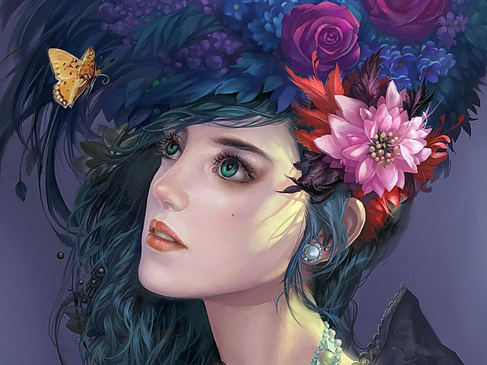 flower girl fantasy art