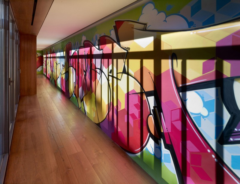 modern colorful wall mural art