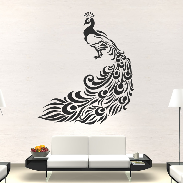 5 peacock wall art