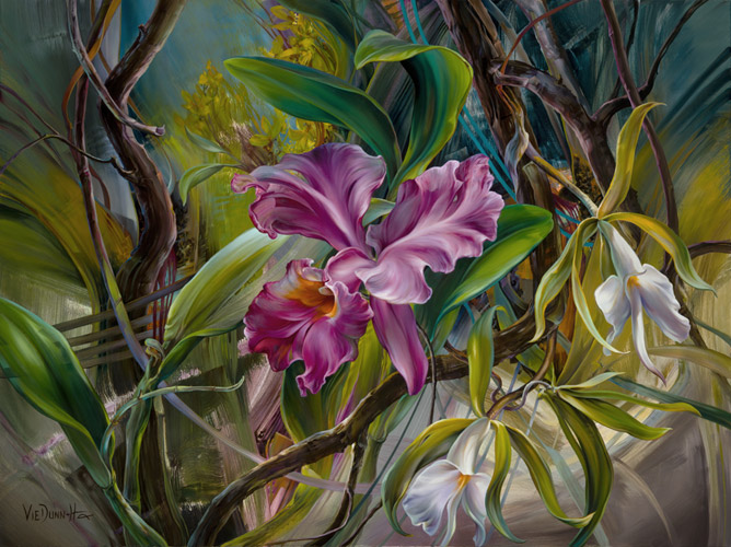 6 amazon tango flower paintings
