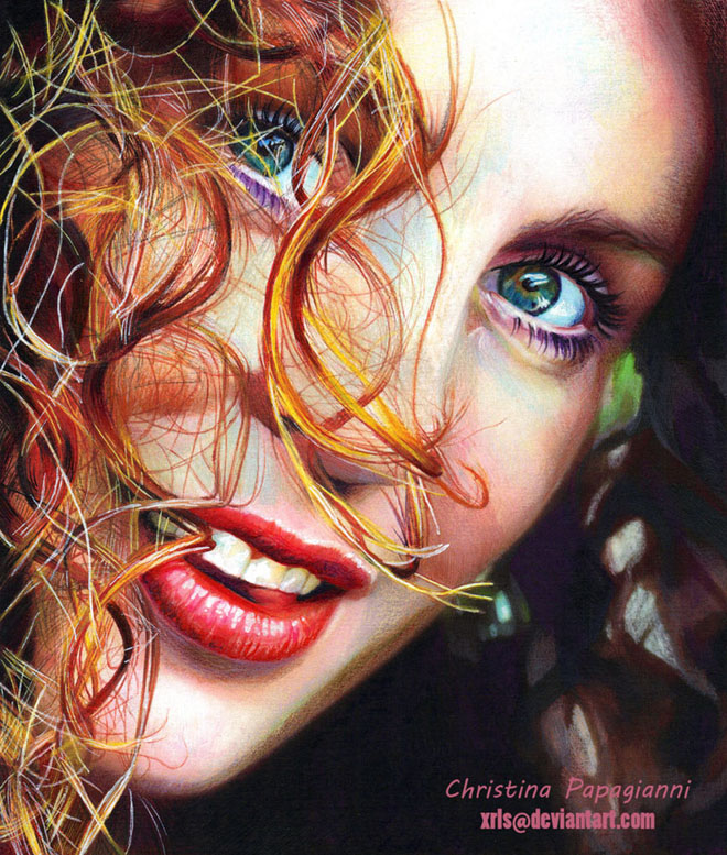 Color pencil drawing by christina papagianni 6