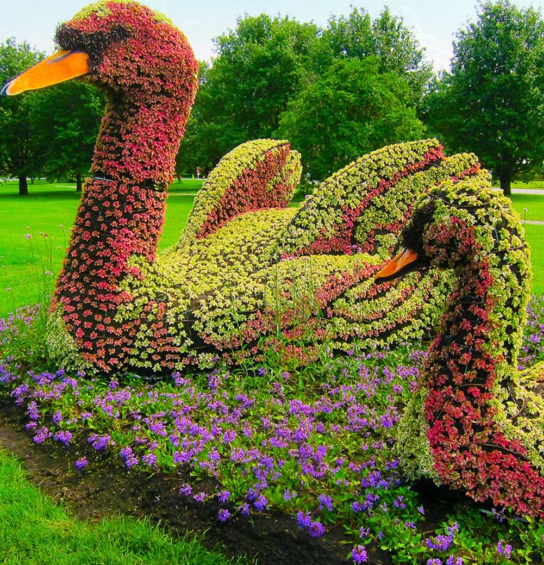 duck garden sculptures