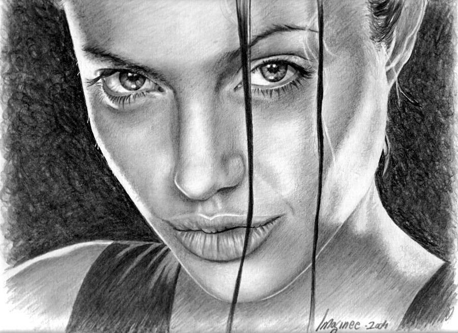 girl pencil drawings