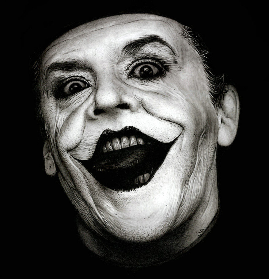 jack joker realistic drawings