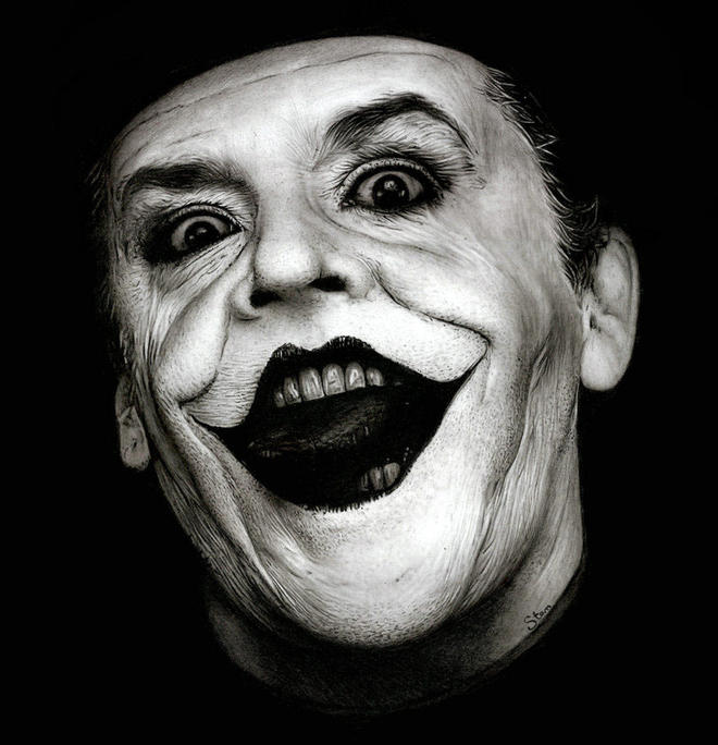 jack joker realistic drawings -  6