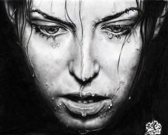 realistic face drawings by chaseroflight -  6