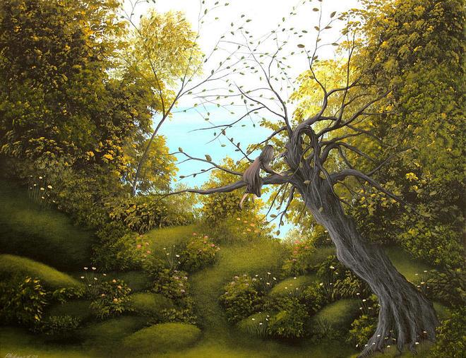 tree paintings by philippe fernandez -  7