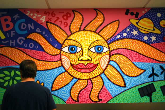 7 wall mural painting sun image for Elementary school mural