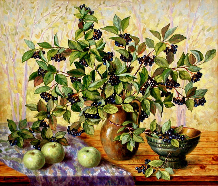 grape tree still life painting -  8