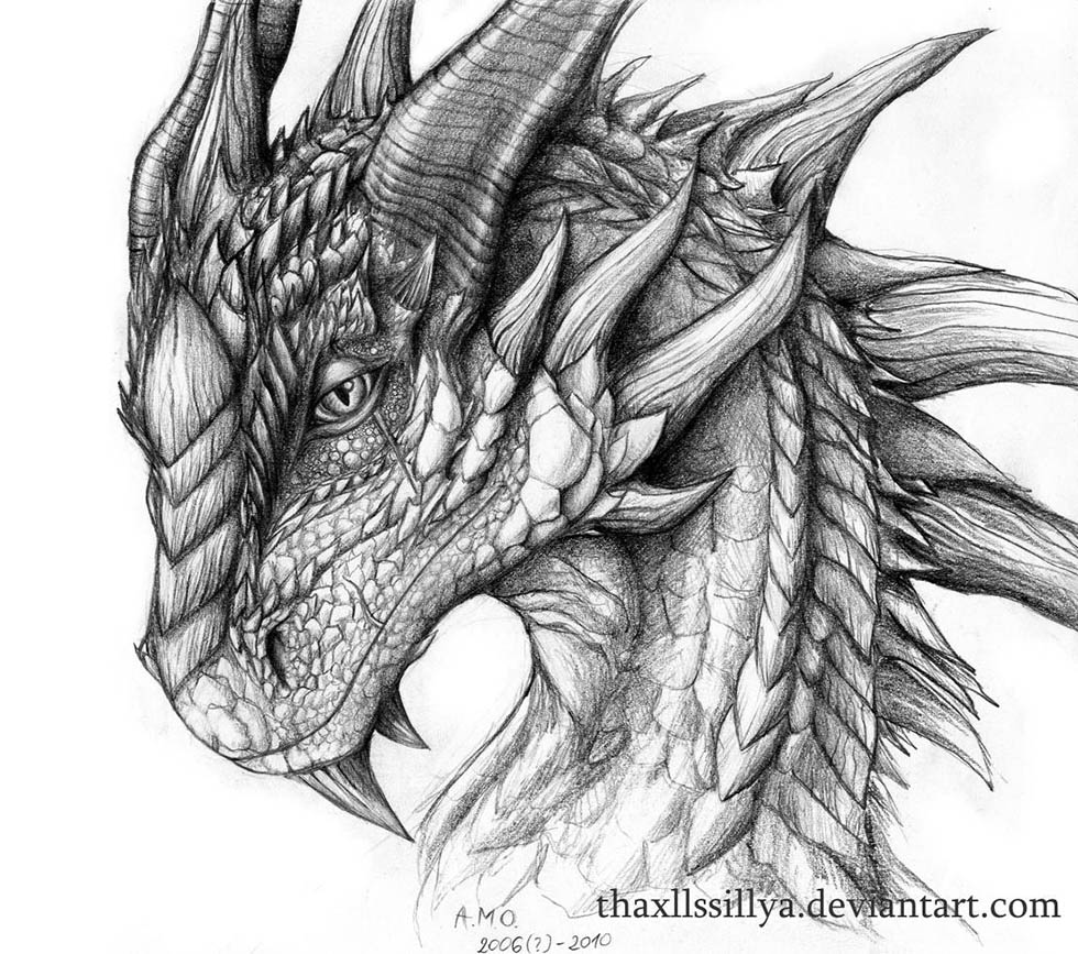 Dragon drawings by thaxllssillya 9