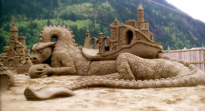dragon sand sculptures -  9