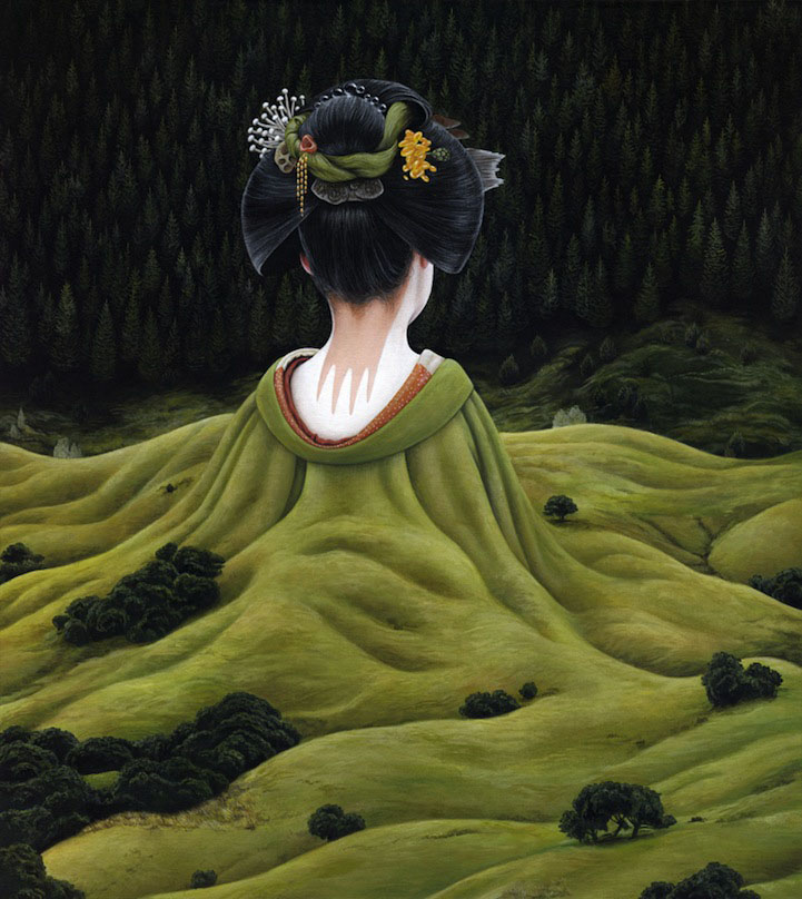 9 japanese girl surreal paintings