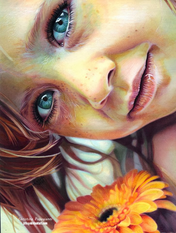 pastel painting by christina papagianni