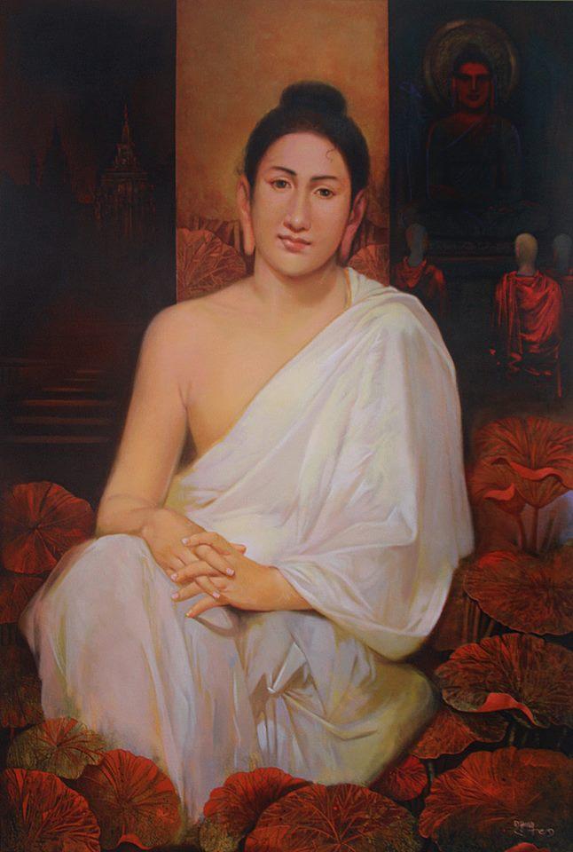 buddha acrylic painting by raghunath sahoo