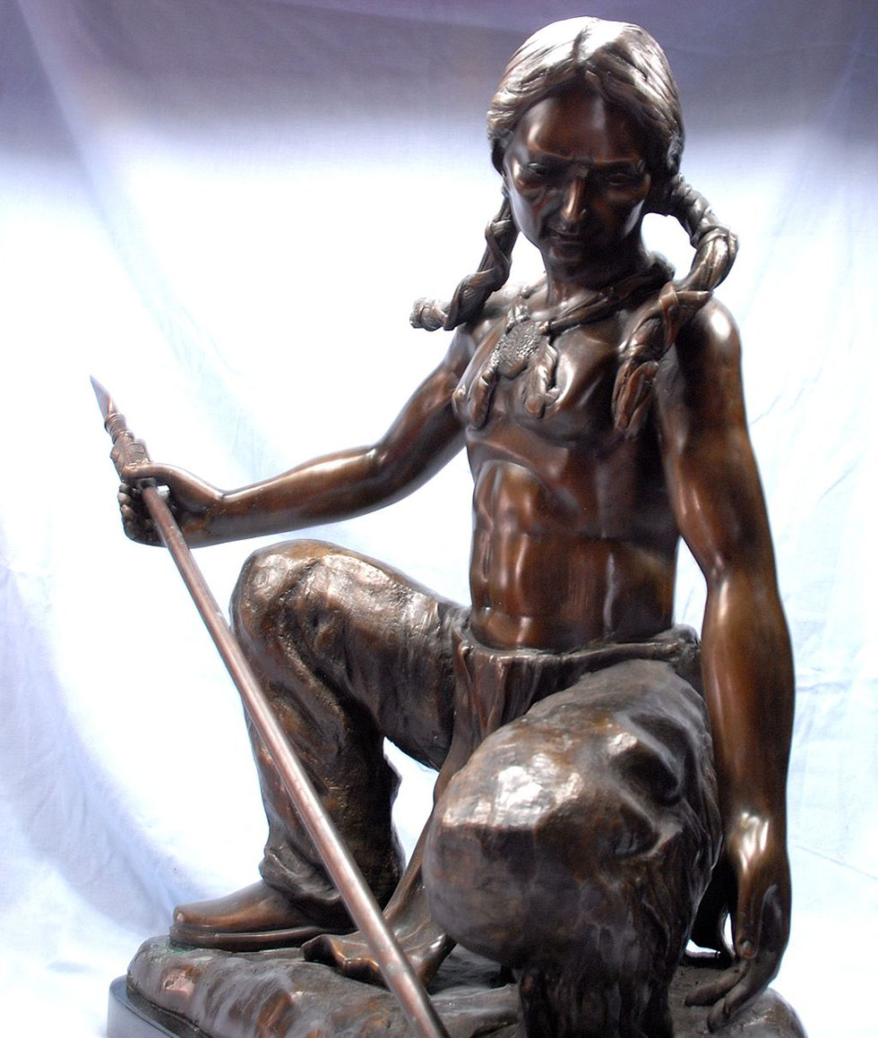 girl bronze sculptures