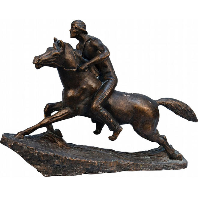 horse riders bronze sculptures