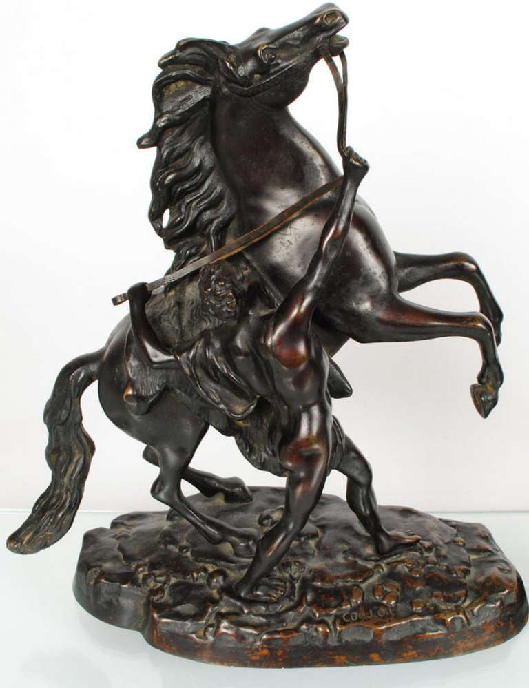 horses rider bronze sculptures