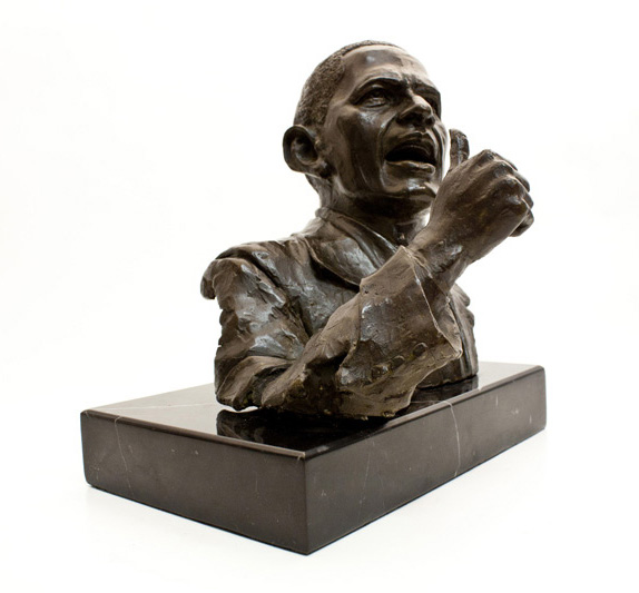 obamas bronze sculptures