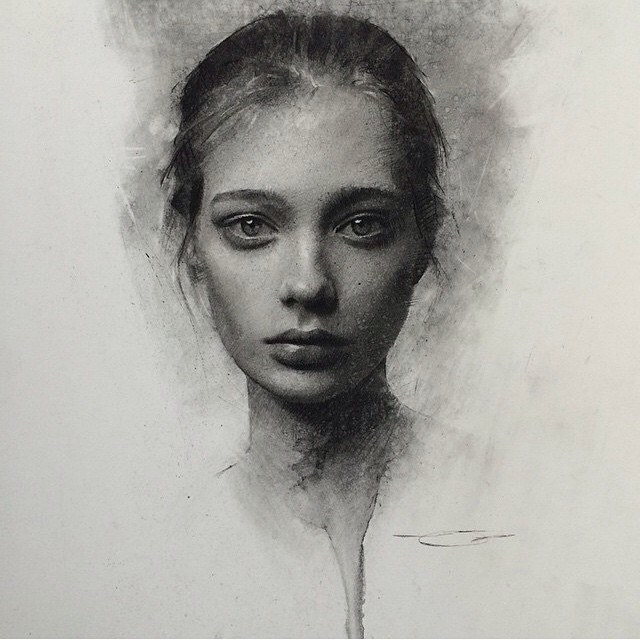 girl pencil drawing by caseybaugh