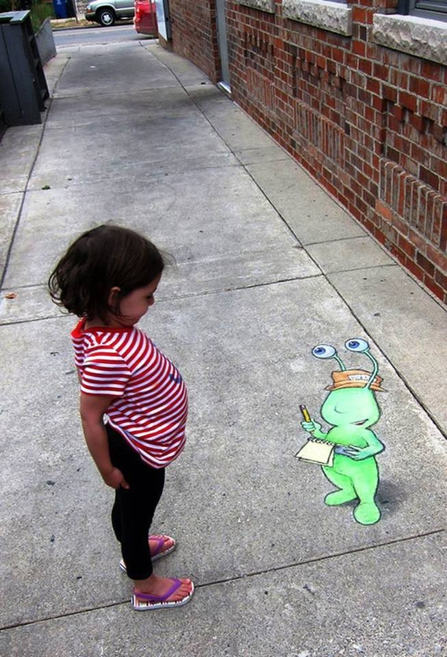 creative street art work david zinn