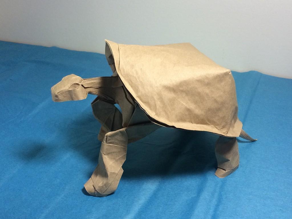 tortue paper sculptures art nguyen gung cuong