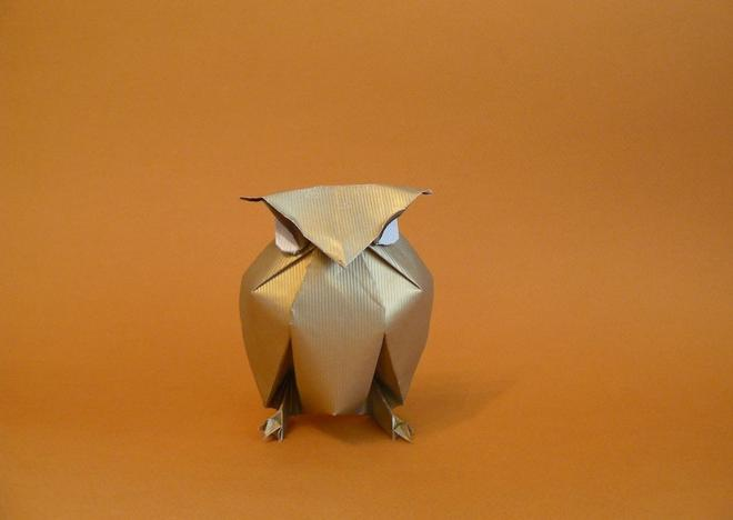 14 owl paper sculptures art by nguyen gung cuong