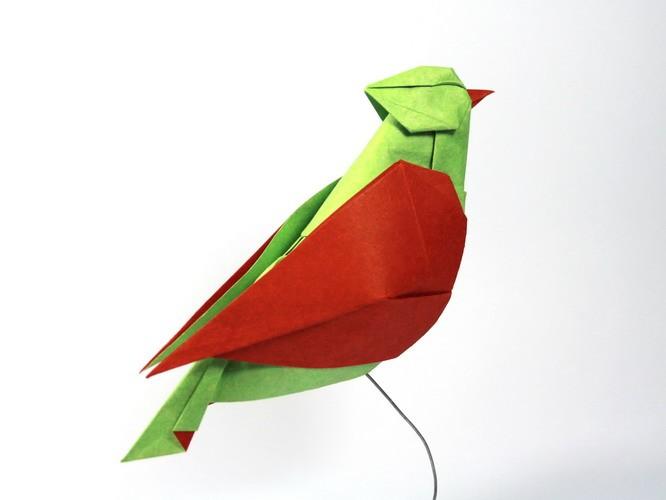 15 parrot paper sculptures art