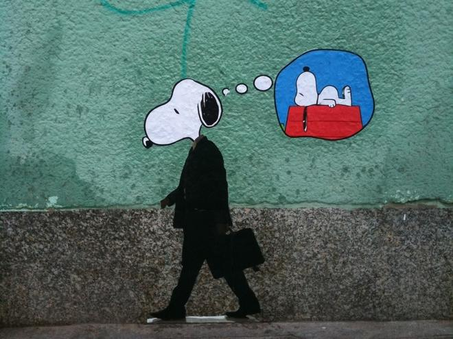 2 snoopy creative street art work