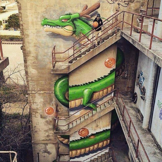 3 dragon rash creative street art work