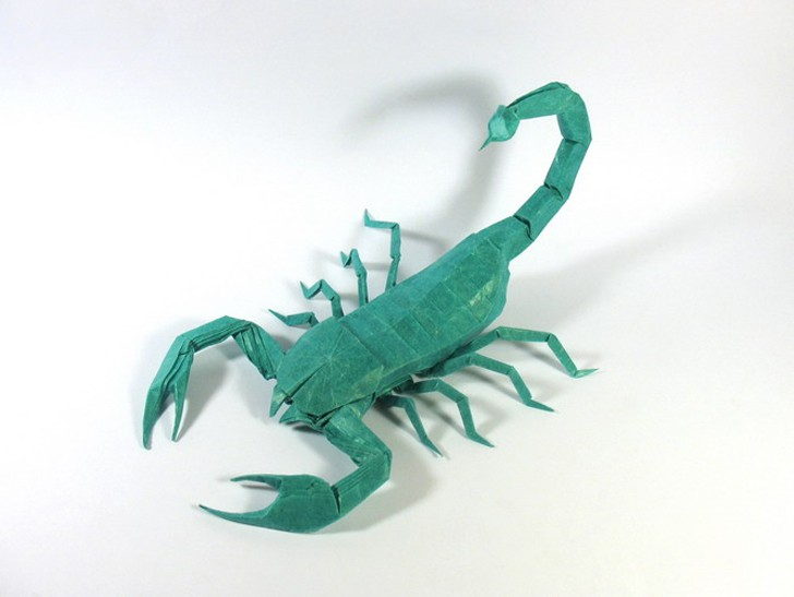 scorpio paper sculptures art