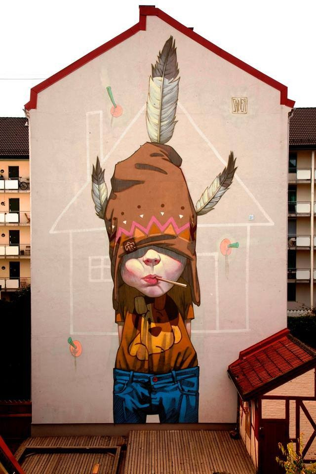 4 woman creative street art work by etam cru