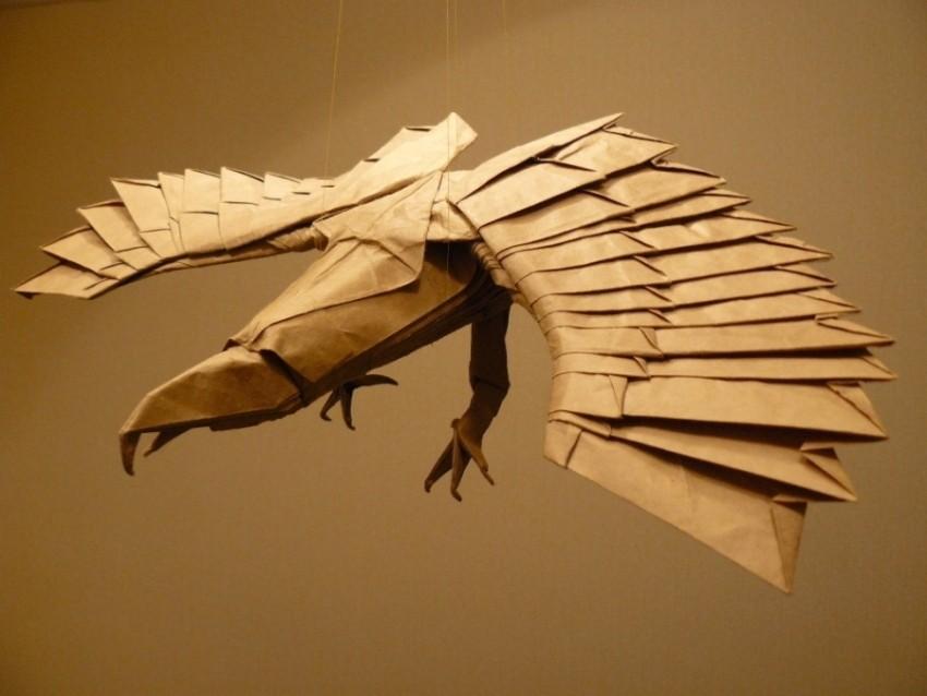 dragon paper sculptures art nguyen gung cuong